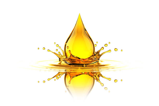 Oil Drop Splash stock photo