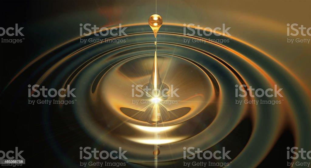 Oil Droplet stock photo