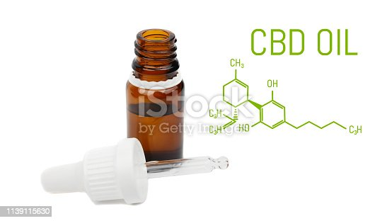 istock CBD oil dropper bottle, live cannabis resin extraction, isolated on white background -close-up of medical marijuana concept 1139115630