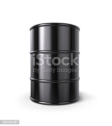 Classic Black Oil Drum with clipping path