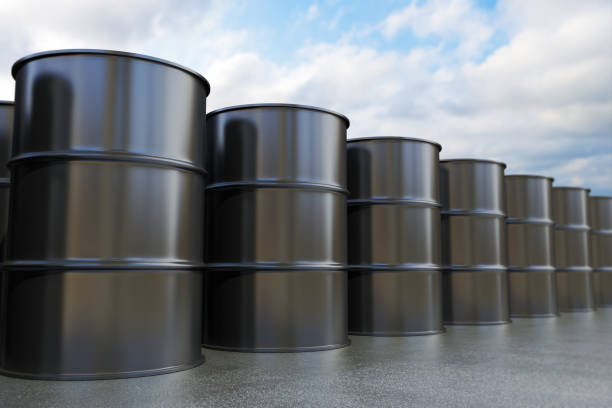 Oil Drums stock photo