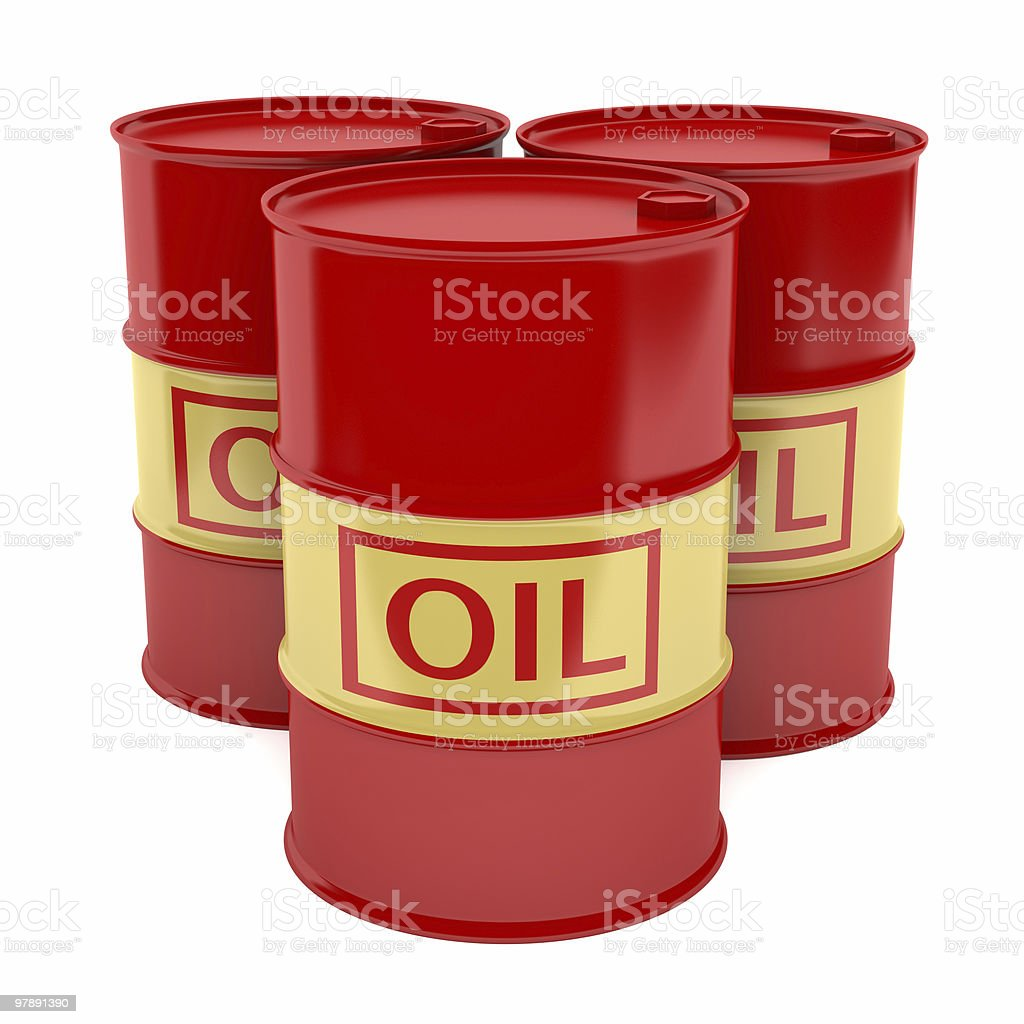 XXL Oil Drums royalty-free stock photo