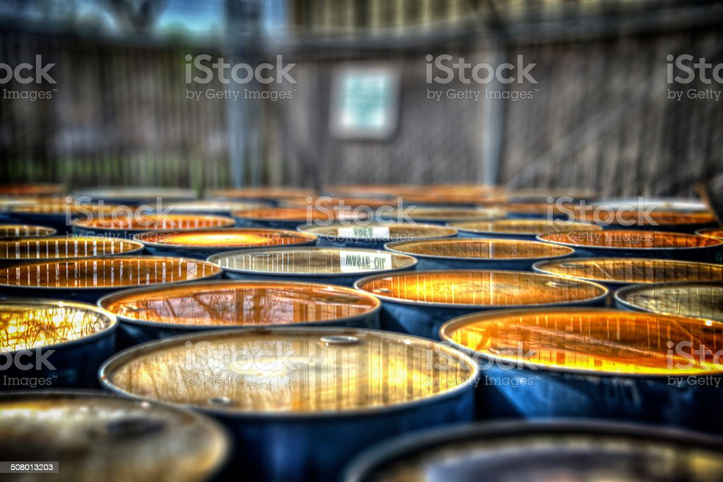 HDRI Oil Drums Reflection stock photo