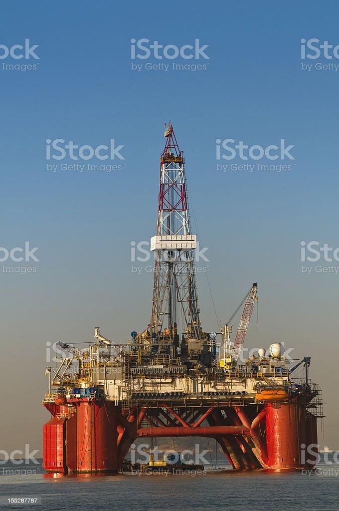 Oil exploration platform at sea  royalty-free stock photo