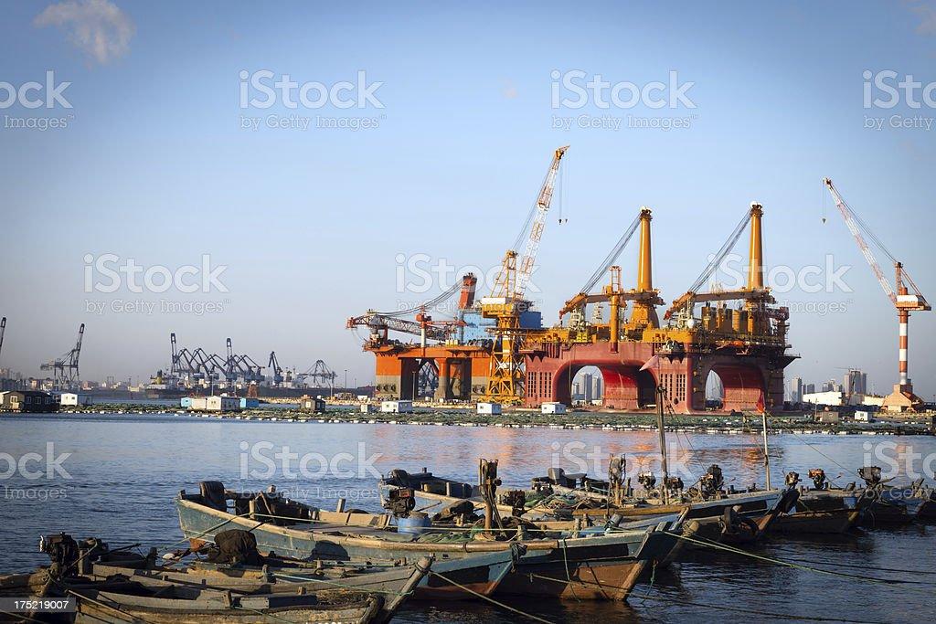 Oil Exploration Platform royalty-free stock photo