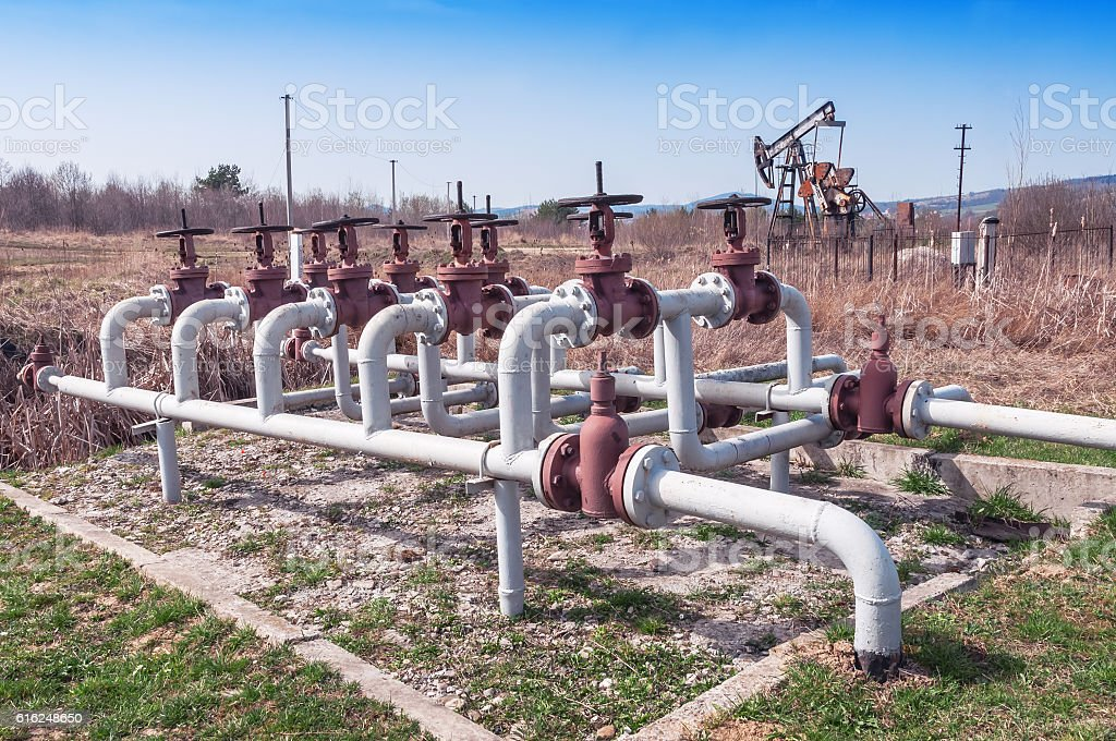 oil (petroleum) field stock photo