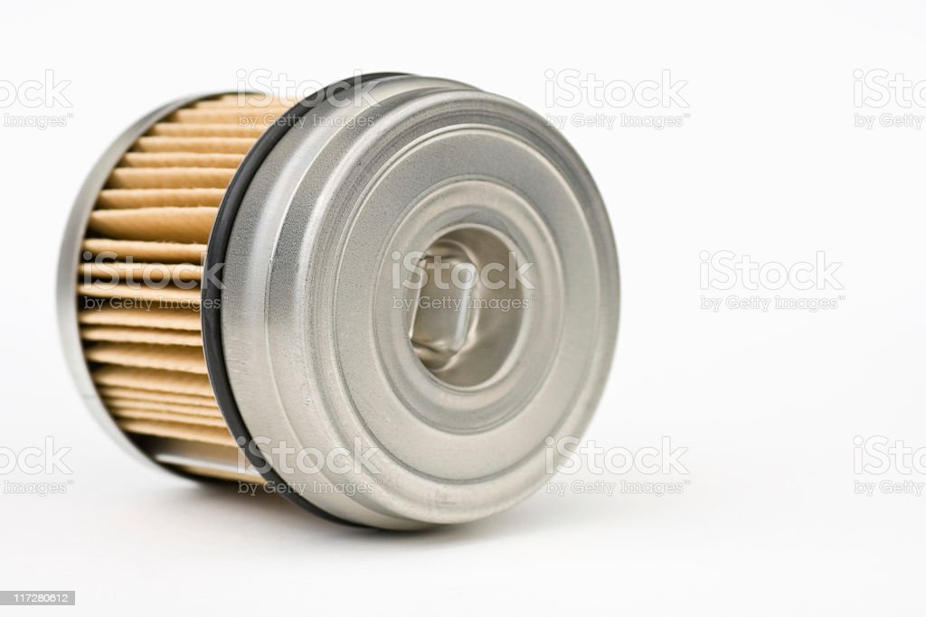 Oil Filter on Side royalty-free stock photo