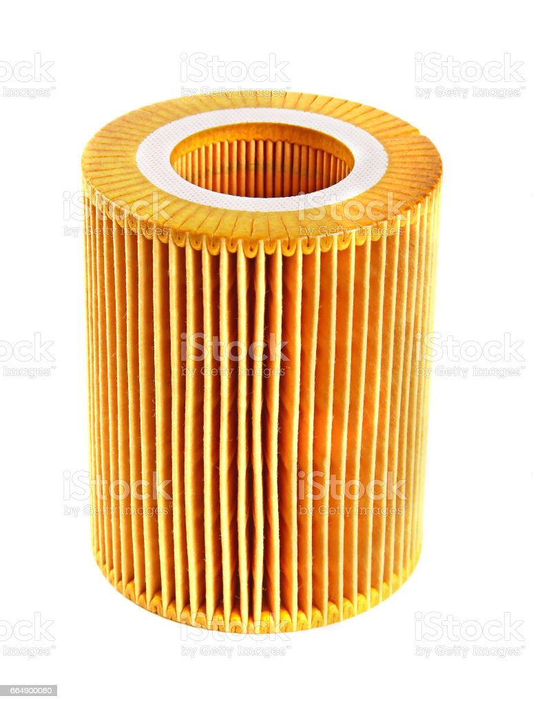 Oil filter stock photo