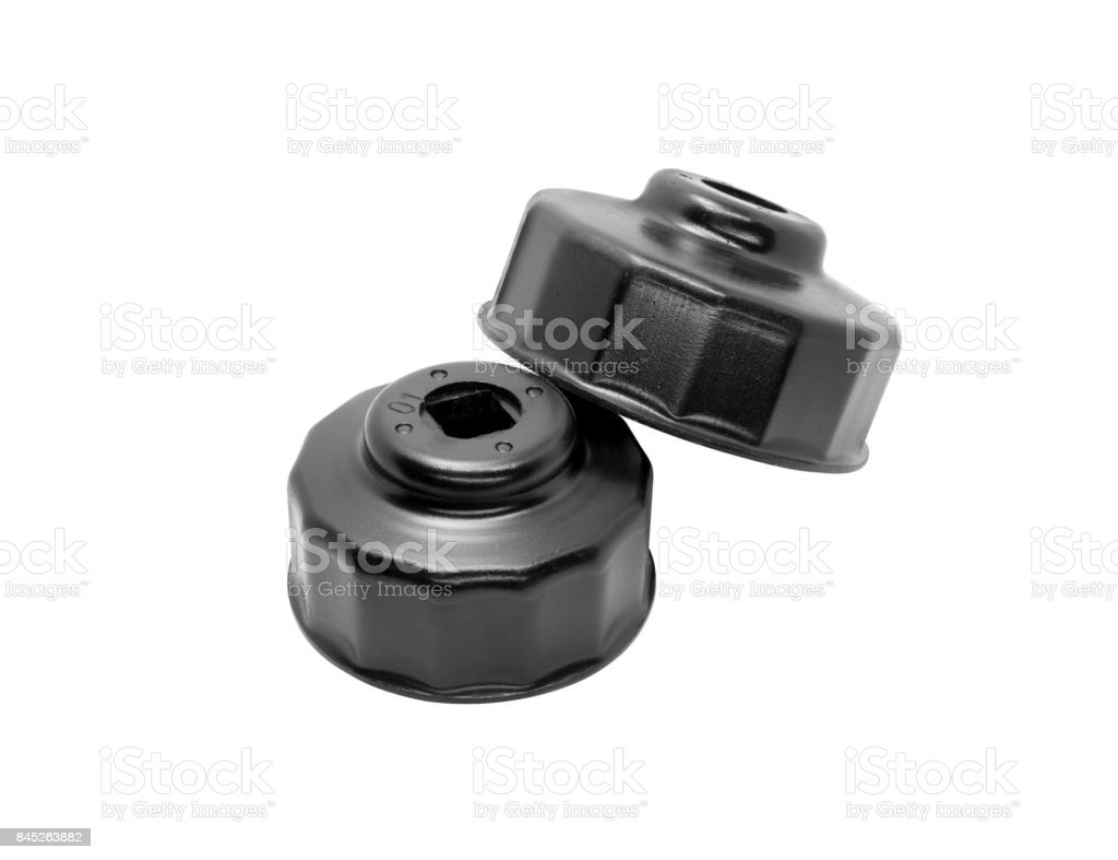 Oil Filter Wrench Cup Type isolate. stock photo