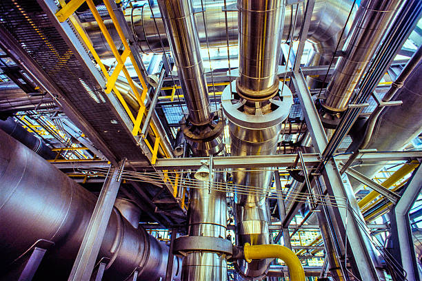 Öl, Gas und Kraftstoff-Raffinerie-Industrie – Foto