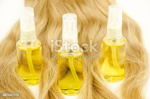 istock Oil hair care 487447770