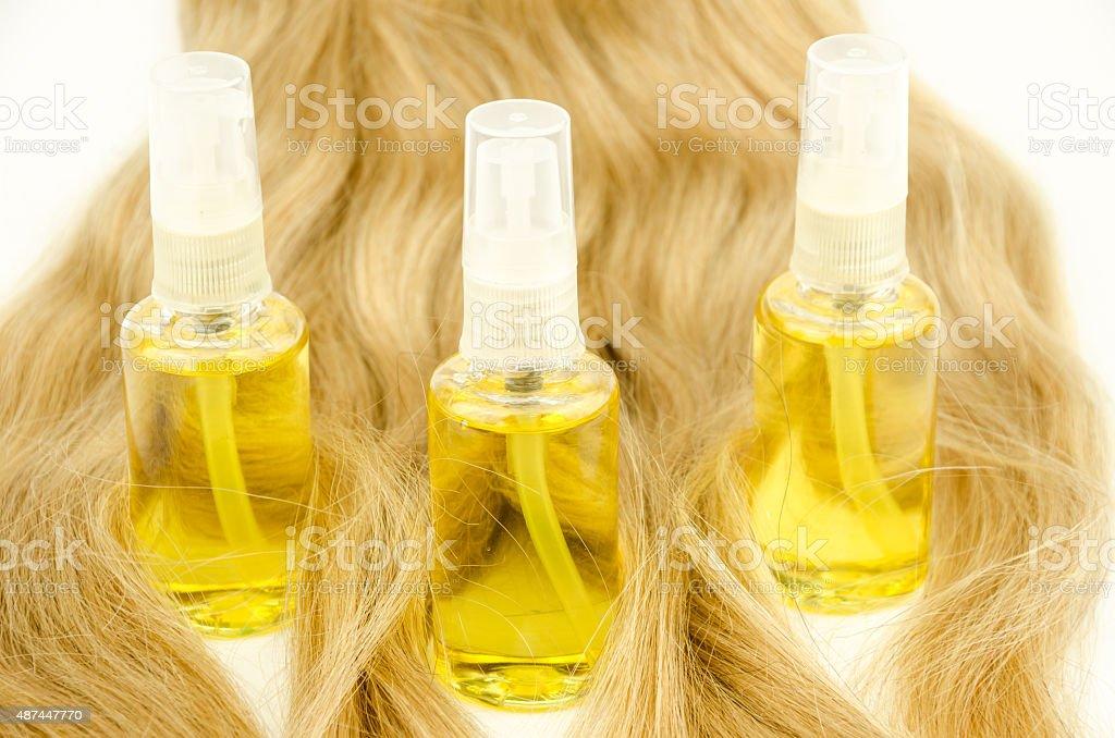 Aceite cuidado del cabello - foto de stock