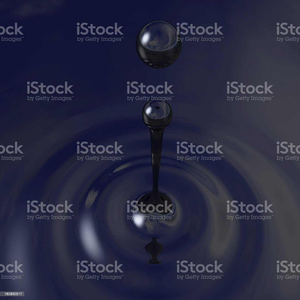 Oil in Water royalty-free stock photo