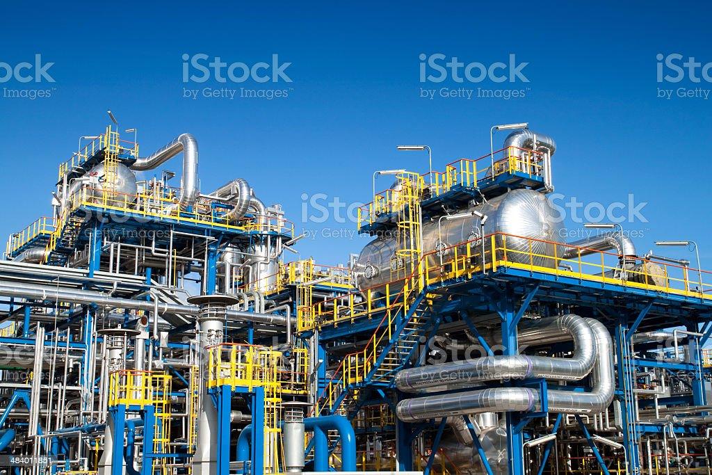 Oil industry equipment installation stock photo