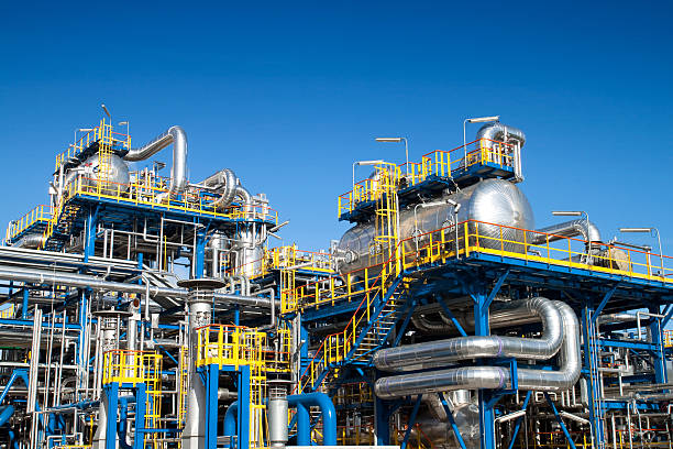 installation von Öl-Industrie-Ausstattung – Foto
