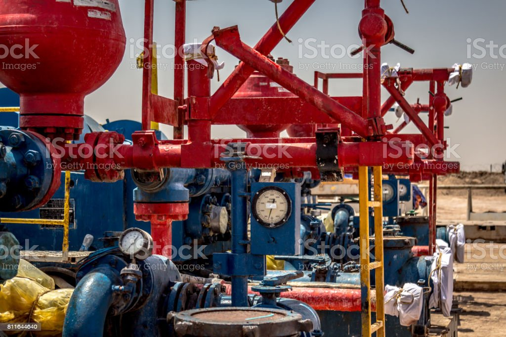 Oil Industry Equipment Mud Pump Stock Photo & More Pictures