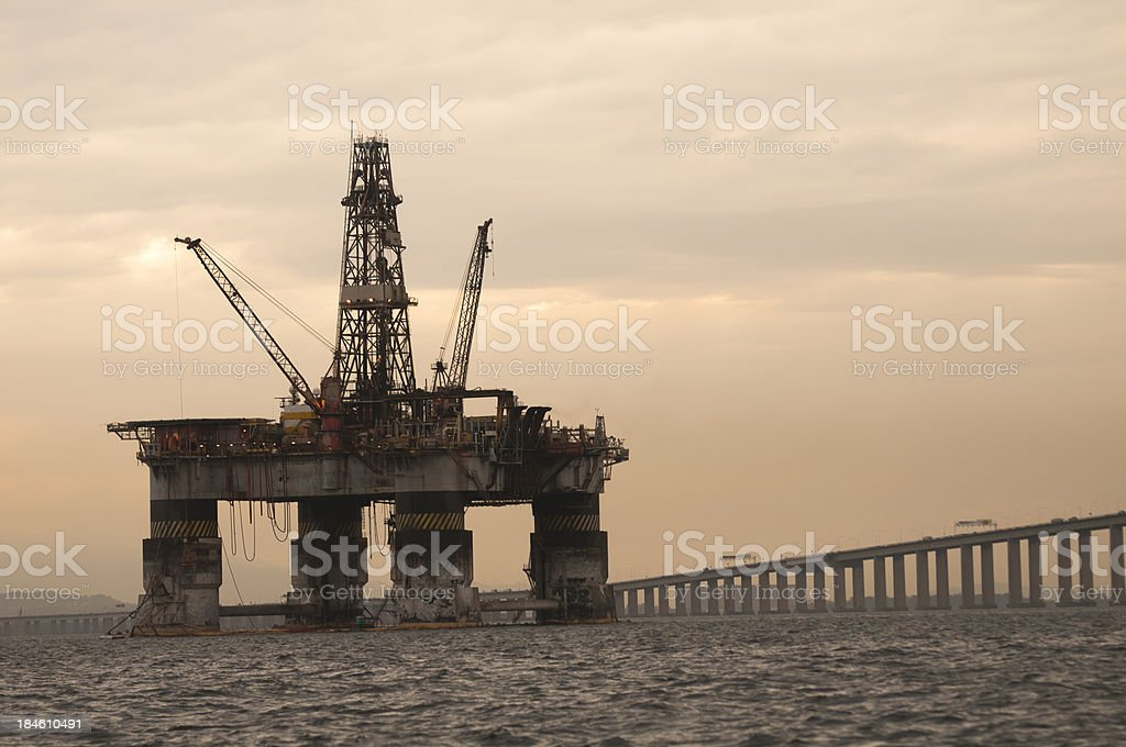 Oil Industry in Brazil royalty-free stock photo