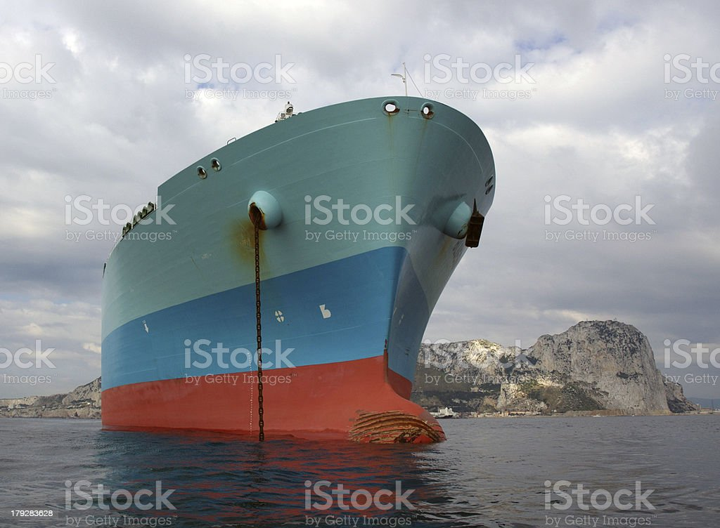 Oil industry, LNG tanker at anchorage royalty-free stock photo