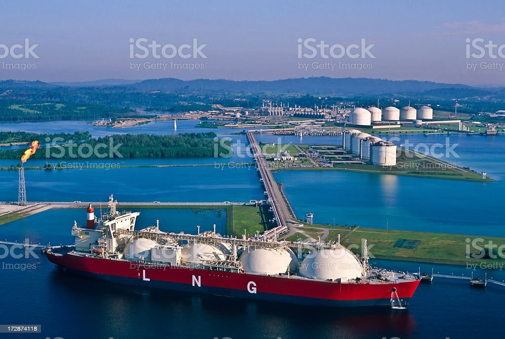 Oil Industry, LNG Tanker stock photo