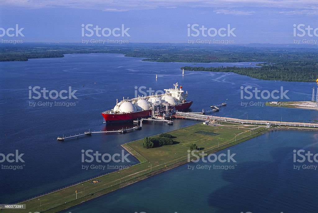 Oil Industry, LNG Tanker royalty-free stock photo