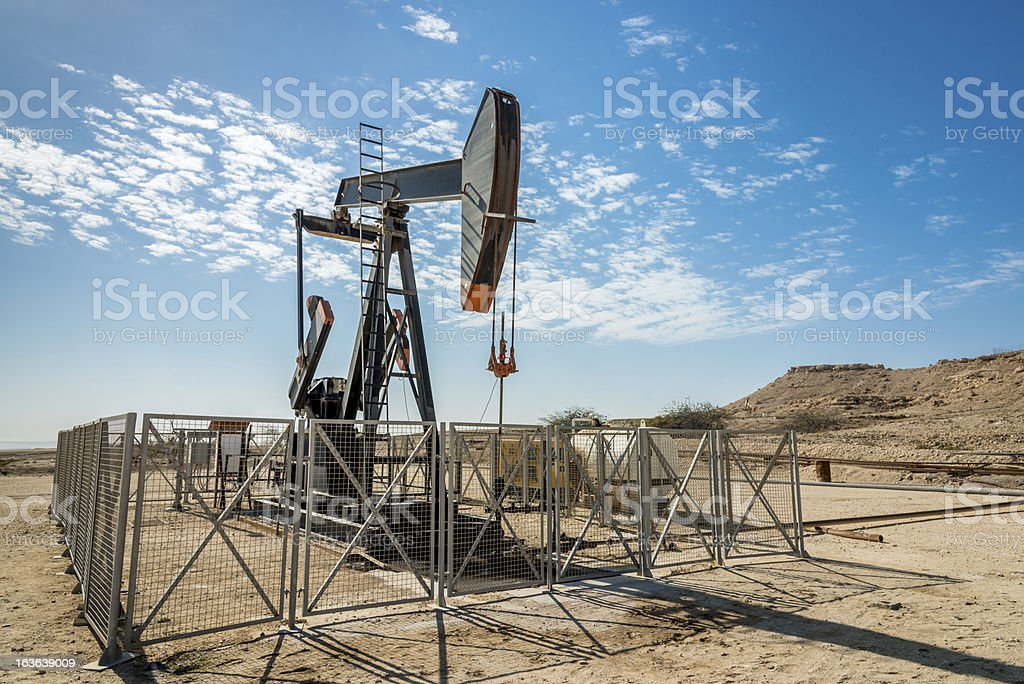 Oil Industry Nodding Donkey Well Pumps royalty-free stock photo