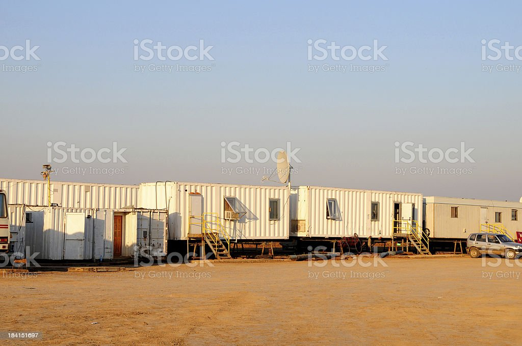 Oil industry: Personnel accomodation royalty-free stock photo