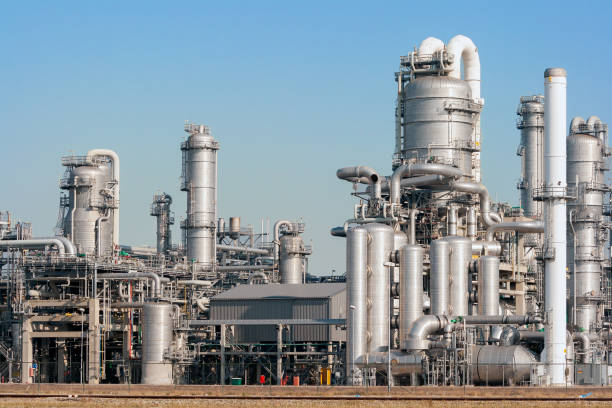 oil industry plant stock photo