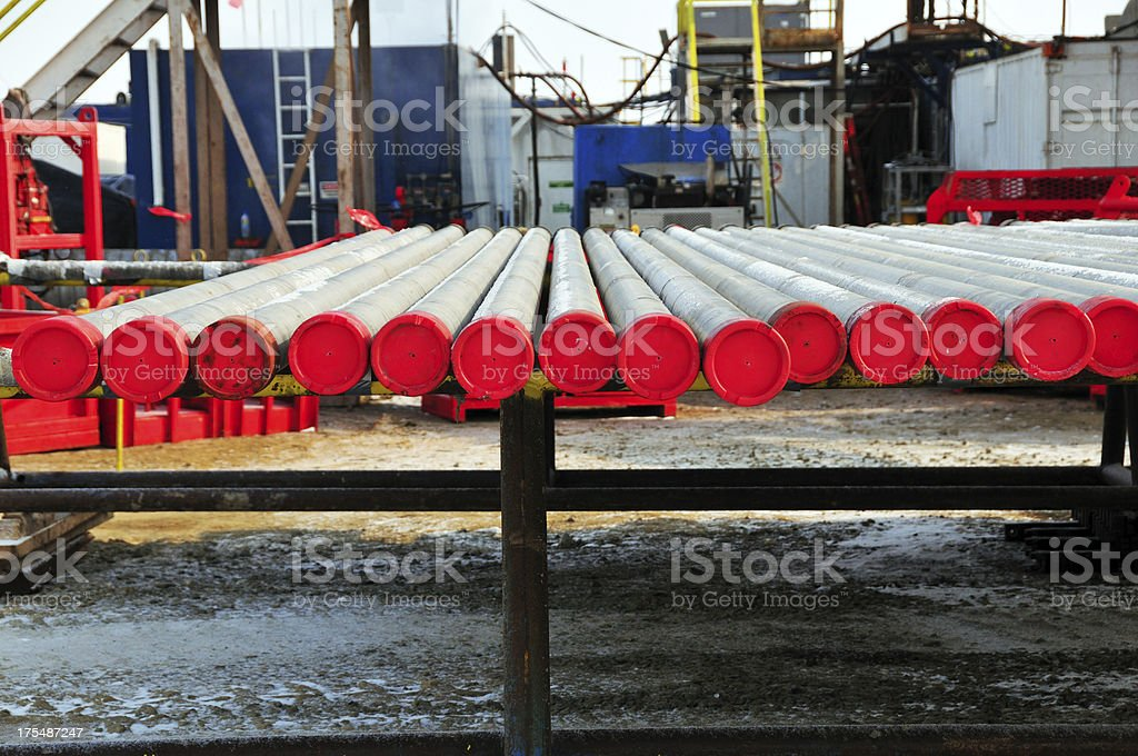 Oil industry - Production tubing royalty-free stock photo