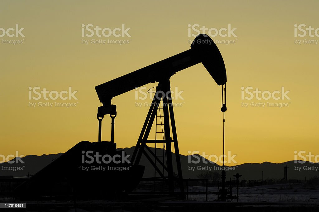 Oil Industry Pump stock photo