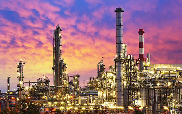 oil industry - refinery factory - refinery stock photos and pictures