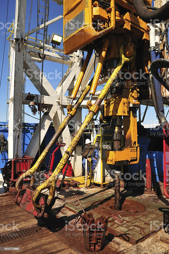 Oil industry: Top Drive royalty-free stock photo