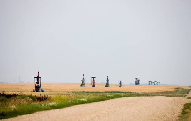 Oil Jack Saskatchewan stock photo