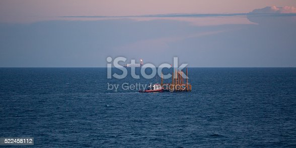 Oil jacket in the sea