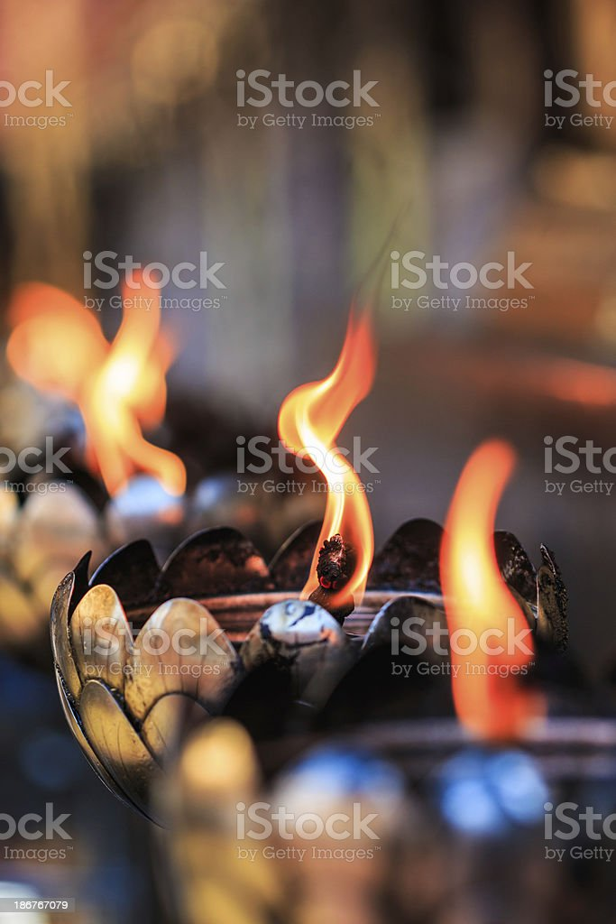 Oil lamp arranged in patterns Beautiful stock photo