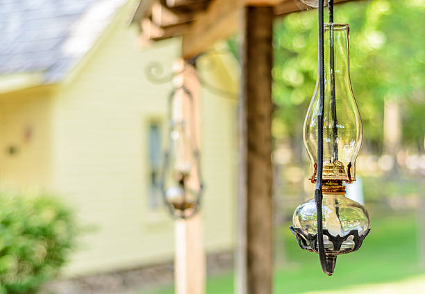 Oil Lamp in the Porch stock photo