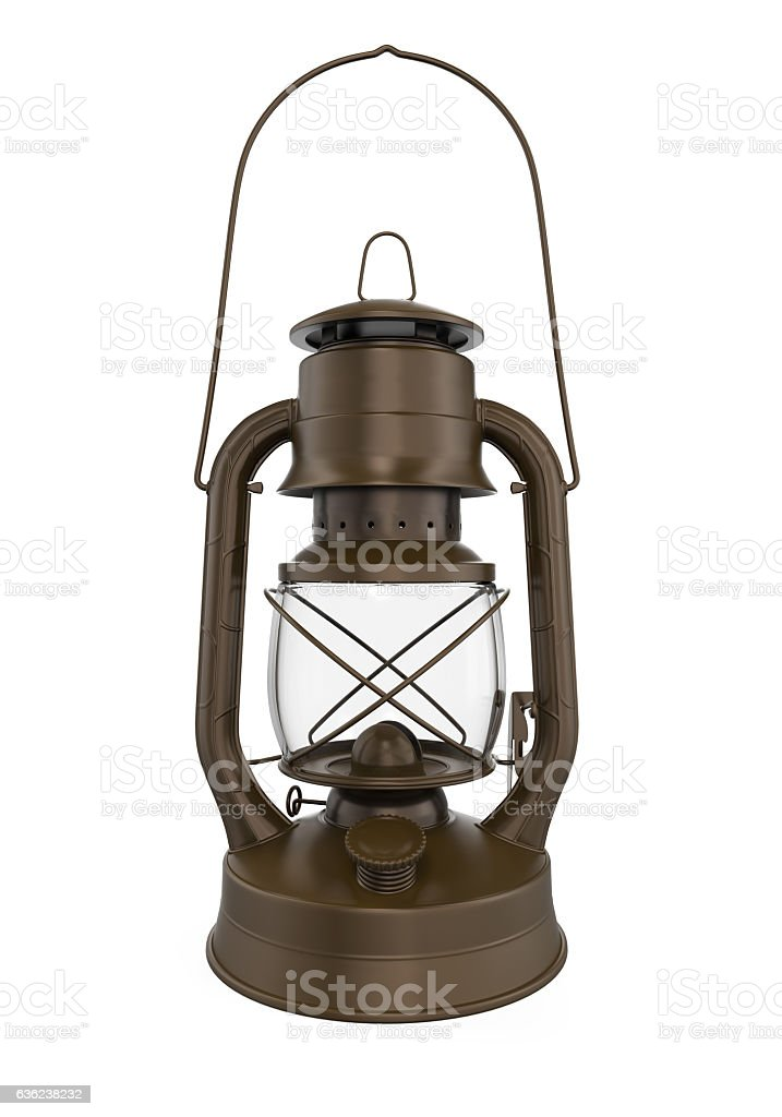 Oil Lamp Isolated stock photo