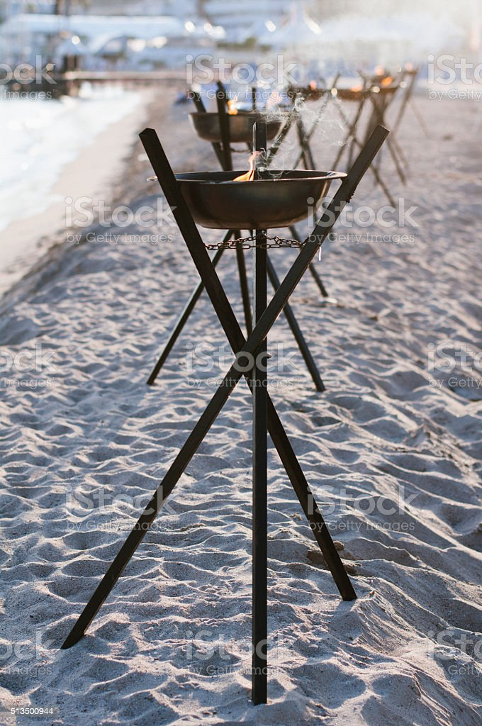 Oil lamp,Cannes,France stock photo