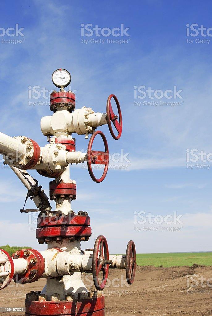 Oil latch stock photo