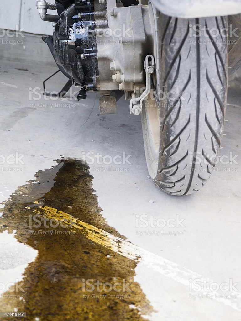 oil leak royalty-free stock photo
