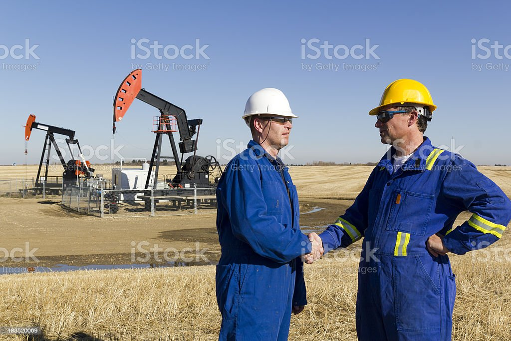 Oil Maintenance Success royalty-free stock photo