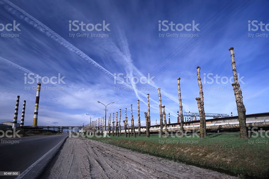 Oil Manufacture royalty-free stock photo