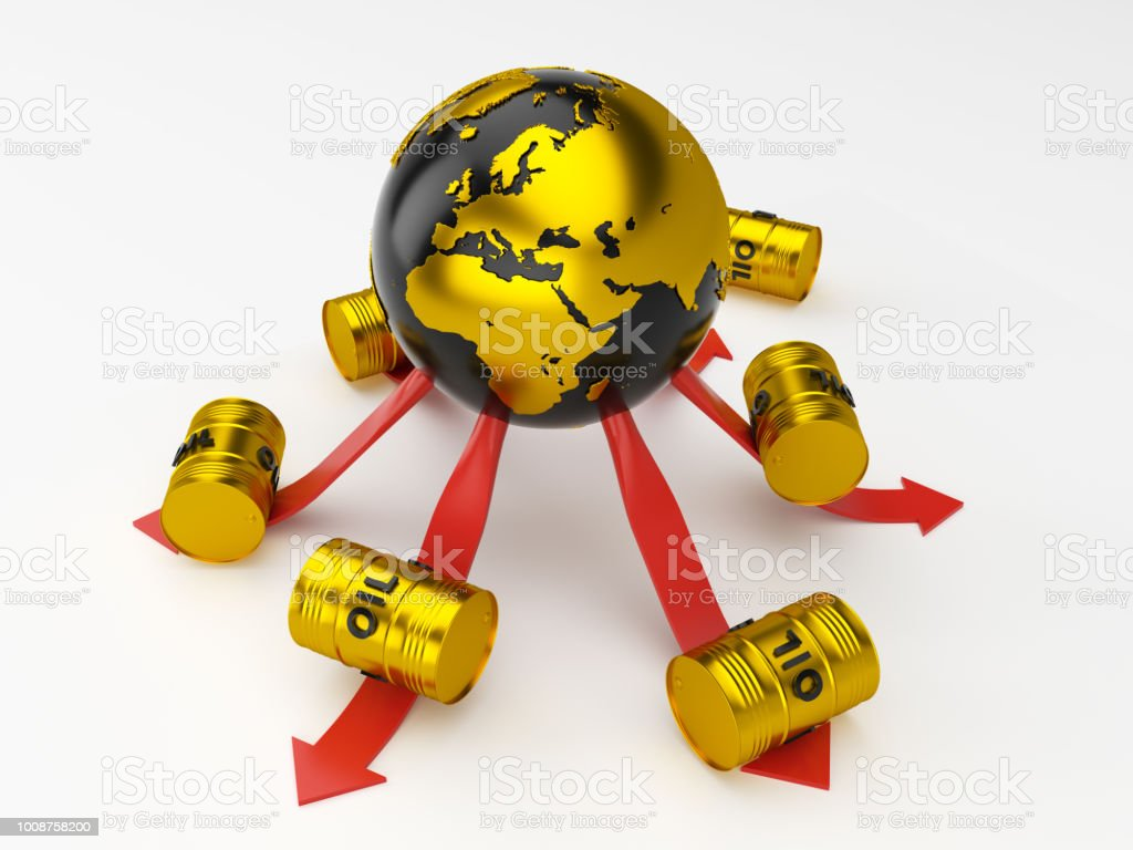 Oil Market 3d Rendering Stock Photo More Pictures Of Arrow Symbol