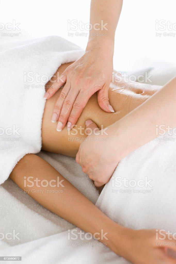 Oil massage royalty-free stock photo