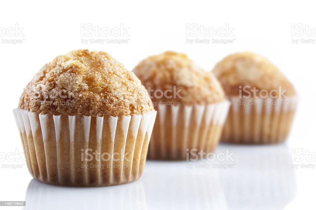 oil muffins isolated on white royalty-free stock photo