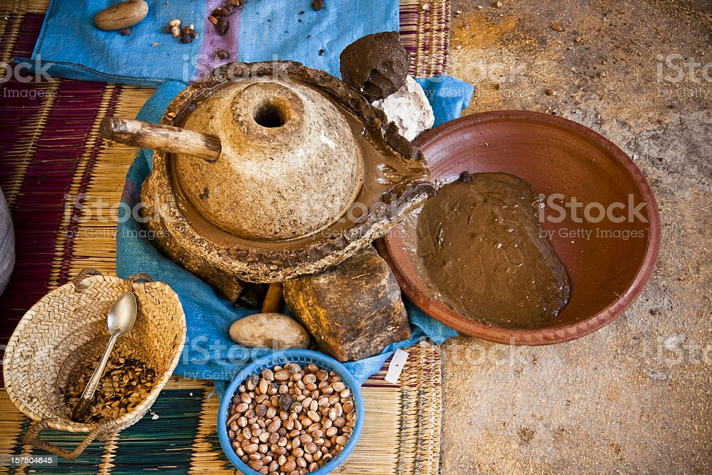Oil of argan stock photo