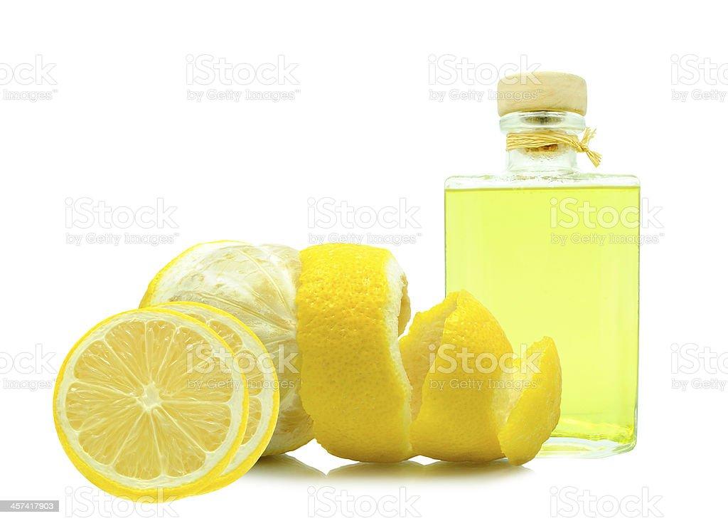 oil of lemon peel stock photo