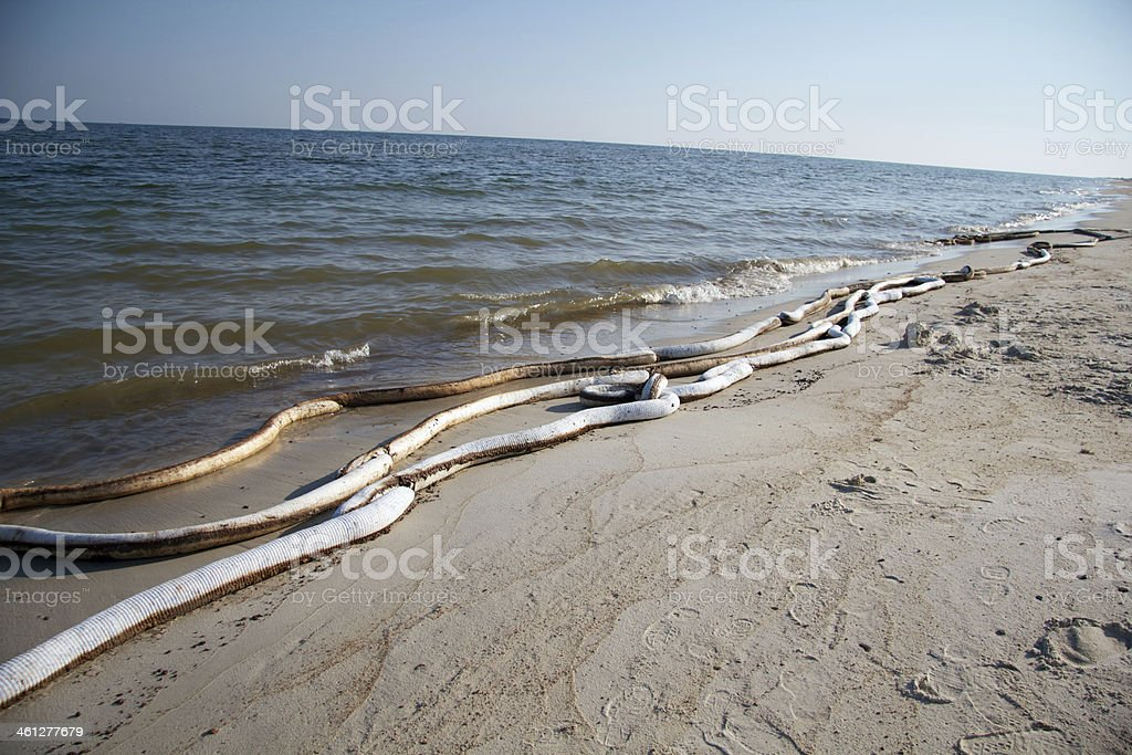 Oil on a beach in Alabama royalty-free stock photo