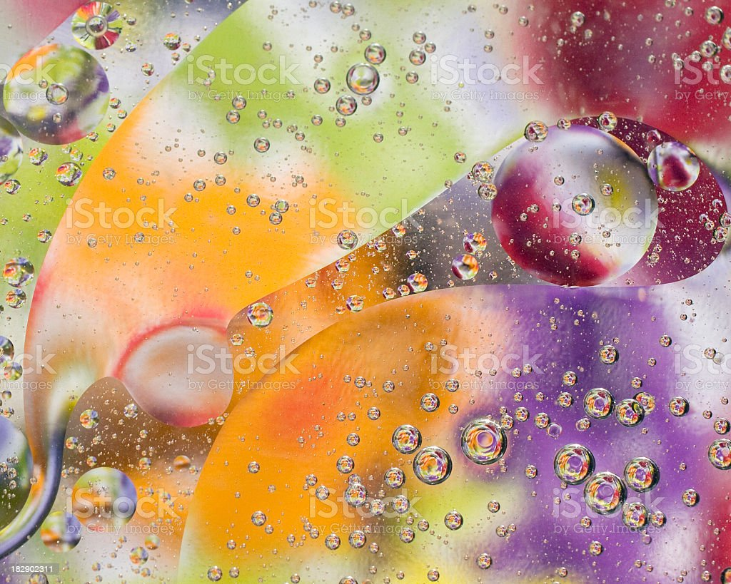 Oil on water royalty-free stock photo