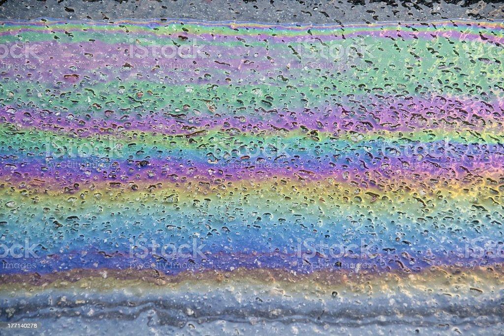 oil on wet asphalt royalty-free stock photo