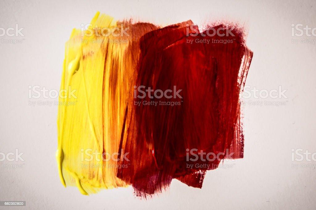 oil paint brush stripes zbiór zdjęć royalty-free